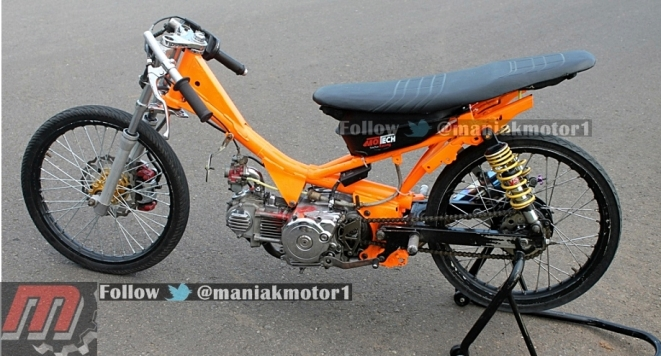 Modifikasi Jupiter Z Drag Bike Korekan Eko Chodox Bebek