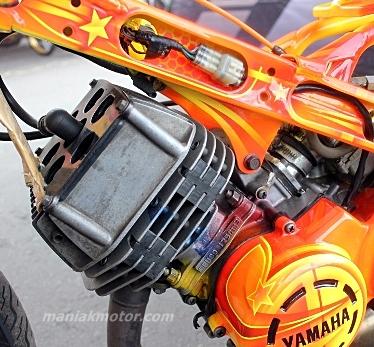 Modifikasi Yamaha 125Z Drag Bike, Rekor 7,270 Detik Bebek 2