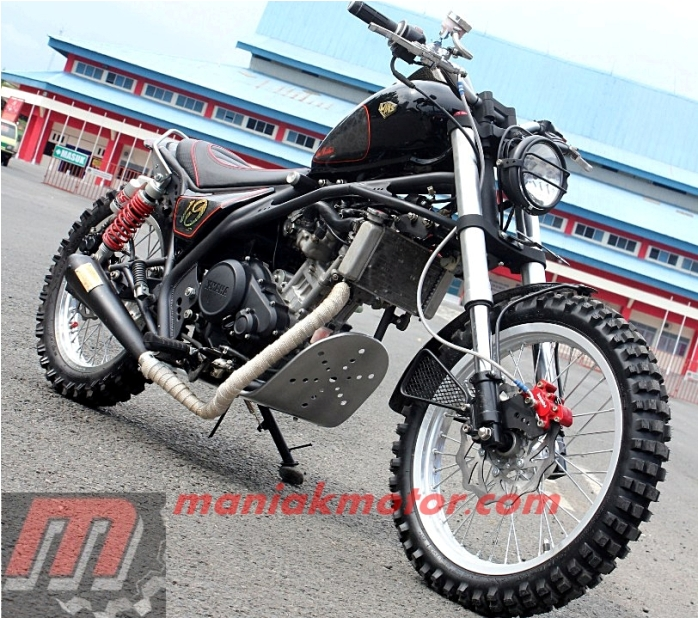 Modifikasi Yamaha Vixion 2014 Cilacap Konsep Cruiser Tracker Portal Sepeda Motor Dan Seluruh Aspeknya