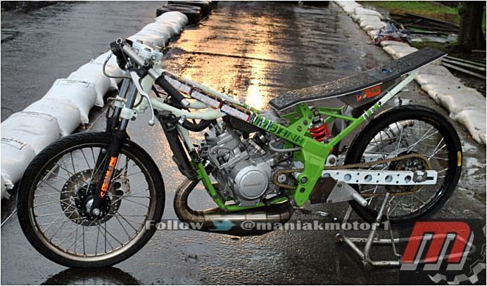 Modifikasi Ninja 150 Drag Bike Start Gigi Dua Jawara Jawa Sport 2