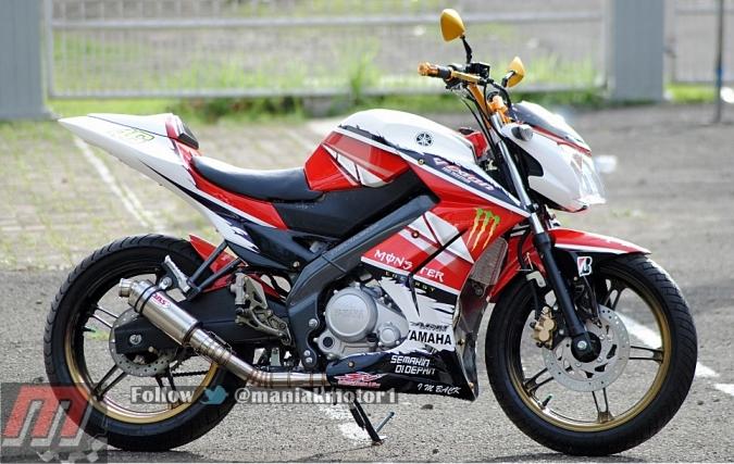 Modifikasi Yamaha New Vixion 2013 Jakarta Fairing Street Fighter Portal Sepeda Motor Dan Seluruh Aspeknya