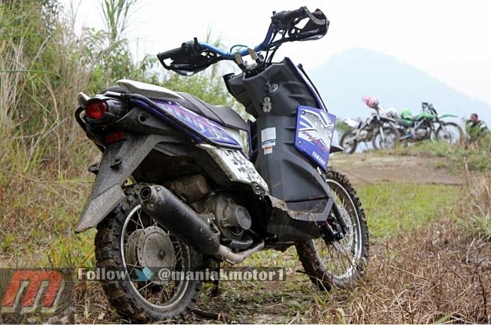 Modifikasi Yamaha X Ride 2013 Hanya Permak Kaki Kaki Dibuktikan Di