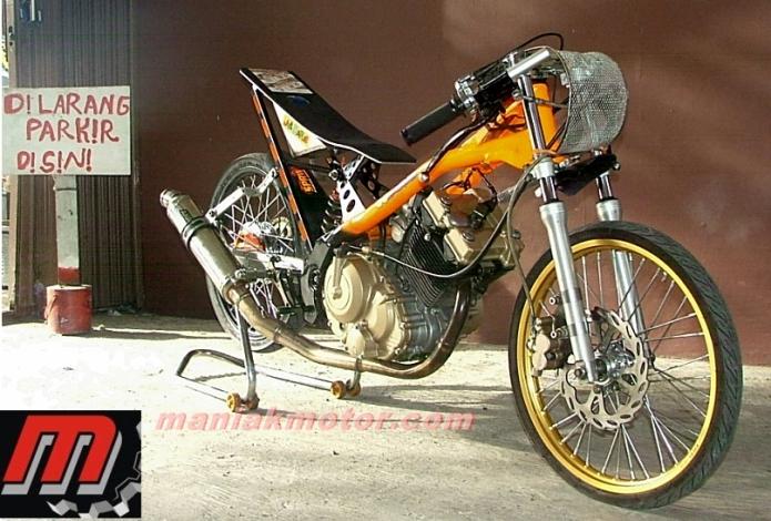 Modifikasi Suzuki Satria Fu150 Drag Bike 7 745 Detik Omr Fu 155
