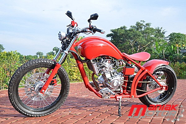 Modifikasi Motor Yamaha Vixion Jadi Chopper Lho Mantap Ya Portal Sepeda Motor Dan Seluruh Aspeknya