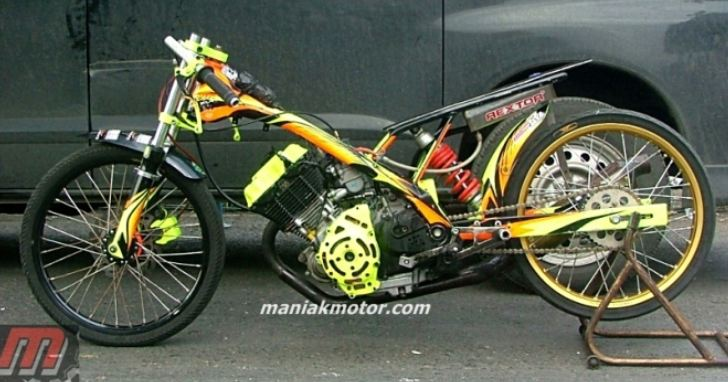 Modifikasi Satria Fu 200 Solo Drag Bike Volumetrik 200 Cc Lima Tahun Lalu Dikagumi Portal Sepeda Motor Dan Seluruh Aspeknya