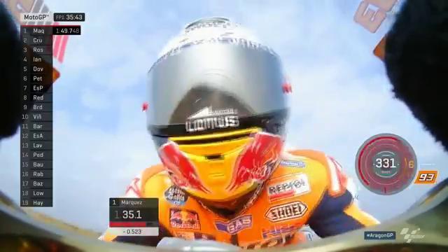 Marc Marquez FP1 Aragon 2016