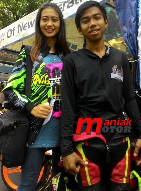 Pembalap drag bike Nanda Wijaya