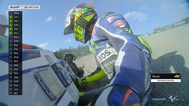 Valentino Rossi jatuh di Motegi 2016