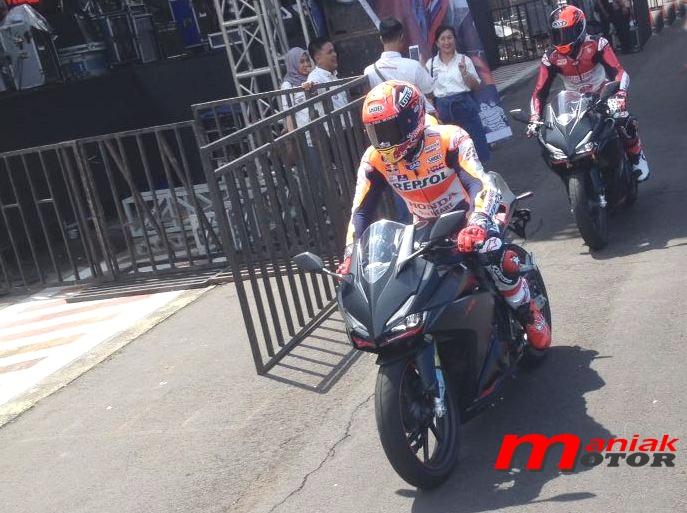 Marc Marquez di Sentul pakai Honda CBR250RR