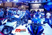 Yamaha M1, Rossi, MotoGP< IMOS, JCC, Jakarta, Indonesia