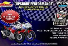 Paket Korek Harian Ultra Speed Honda CBR 150