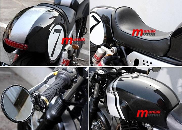 Modifikasi Suzuki Thunder Cafe Racer