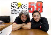Paolo (papanya Marco Simonceli) dan Suzuki