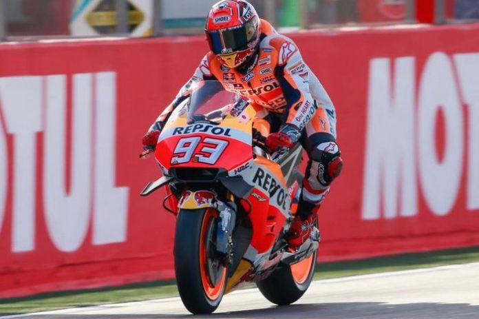 Marquez warm up race Valencia 2016