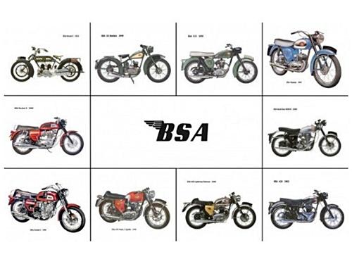 BSA, Mahindra, India, Inggris, Italia