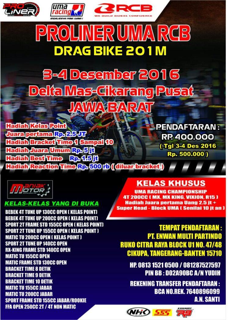 Drag Bike ManiakMotor Desember 2017