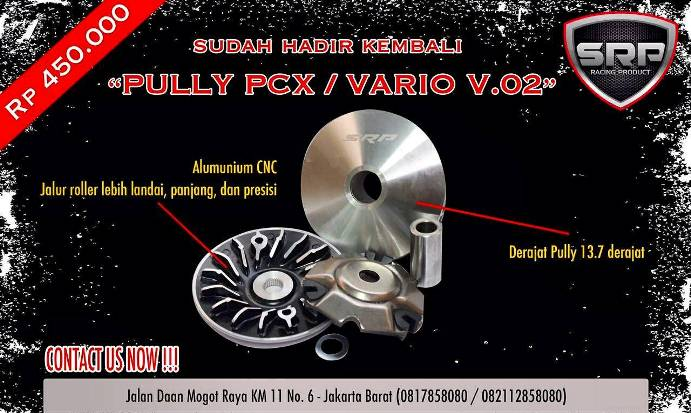 Puli/pully racing CVT