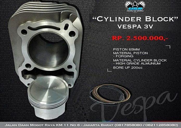 Silinder VESpa 4T 200 cc USR