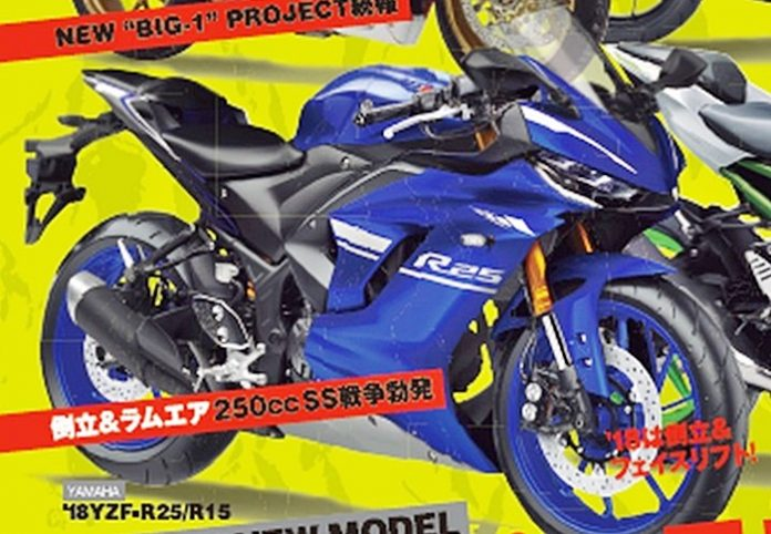 Yamaha R25, facelift, Young machine
