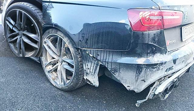Rossi, Audi RS6, kecelakaan