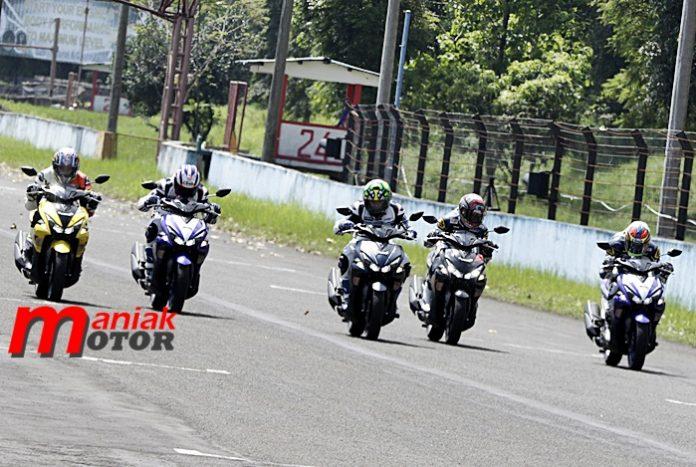 Yamaha, Aerox 155VVA, Tes Sentul, Rider YRI
