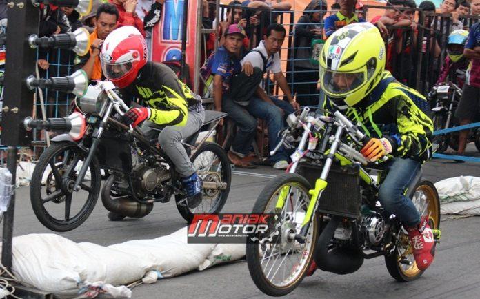 Duel Ninja Tu 6.9 Detik Drag Bike