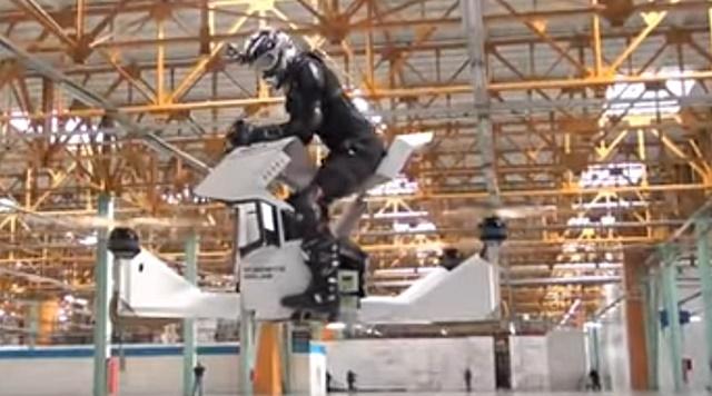 Scorpion3, Rusia, Hoverbike, terbang