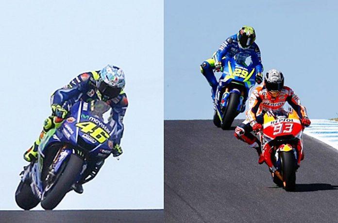 Rossi, Marquez, Ostrali, tes motogp