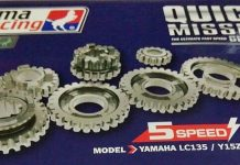 Gear ratio UMA Racing