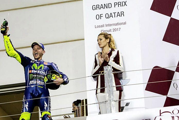 rossi, podium, qatar