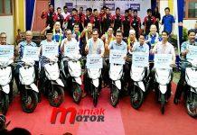 Yamaha, donasi SMK, Padang