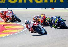 Rossi, Aragon bal, MotoGP