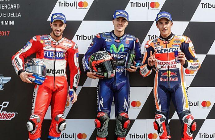Tiga rider, Misano, Motogp