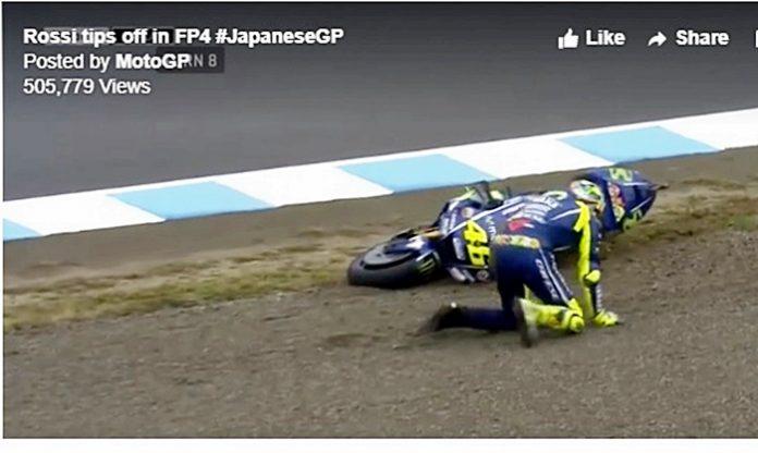 Rossi, FP4 jatuh, MotoGP